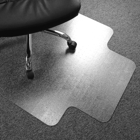 Cleartex Advantagemat | Chair Mat for Low Pile Carpets | Clear PVC | Rectangular with Lip | Size 36