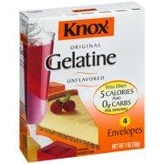 (4 Pack) Knox Original Gelatin Unflavored, 1 oz Box