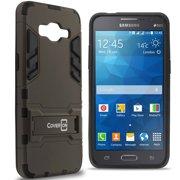 CoverON Samsung Galaxy Grand Prime / Go Prime Case, Shadow Armor Series Hybrid Kickstand Phone