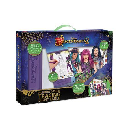 Disney Descendants 2, Fashion Design Tracing Light Table & Sketchbook - Disney Decendants