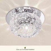 5W Simple Crystal LED Ceiling Light Fixture Pendant Lamp Lighting Chandelier