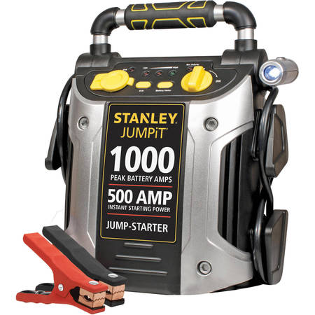 Off Battery Charger Engine Starter (STANLEY 1000/500 Amp 12V Jump Starter with LED Light and USB)