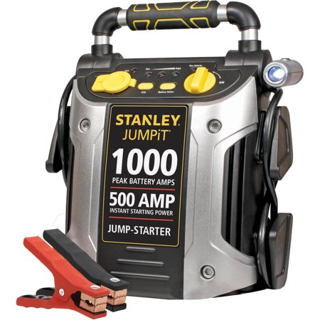 STANLEY 1000/500 Amp 12V Jump Starter with LED Light and USB