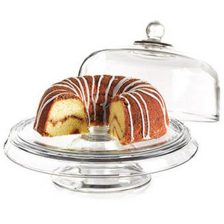 Anchor Hocking Presence 4-in-1 Cake Set, Dome & Platter ()