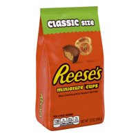 Reese's Peanut Butter Cups Miniatures Chocolate Candy, 12 Oz.
