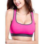 33dc64dc6a SAYFUT Women s Seamless Padded Cups Sports Bra for Running Workout Yoga  Fitness with Removable Pads