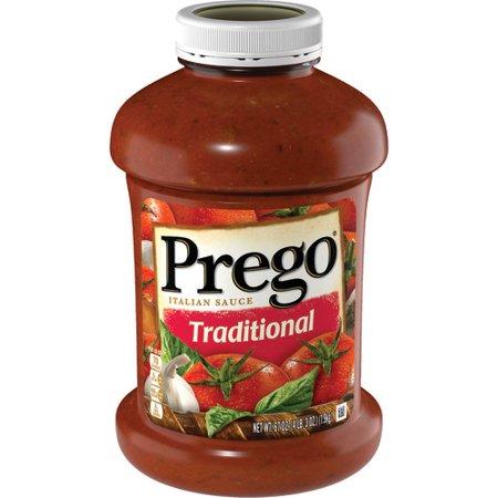 Prego Pasta Sauce, Traditional Italian Tomato Sauce, 67 Ounce Jar