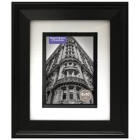 Better Homes and Gardens 8x10 Matted Beveled Black Picture Frame