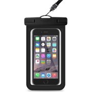 1b58f30e04b 2 PACK Universal Waterproof Phone Pouch, Large Phone Waterproof Case  Underwater Dry Bag for iPhone