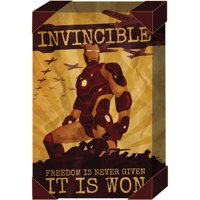 "Iron Man 20"" x 30"" Distressed Canvas Art"