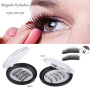 aa3299e1f80 Triple Magnetic Eyelashes , 8 Lashes Magnetic False Eye Lashes, 3D Reusable  Magnetic False Eyelashes , Seconds to Apply No Glue 0.2MM Ultra Thin Fake  Lashes ...