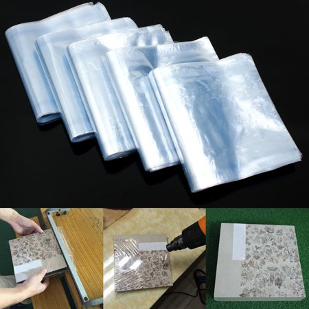 about 500Pcs Lot PVC Heat Shrink Wrap Film Clear Flat Poly Bags Soap Candles Packaging Bag Home Kitchen Tool (Soap Packaging Supplies)