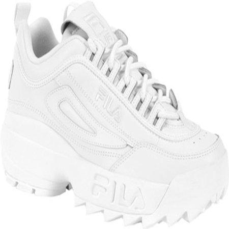 Fila Kids' Disruptor II Sneaker, Triple White, 4 M US Big Kid