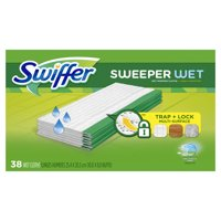 Swiffer Sweeper Wet Mopping Cloths, Multi Surface Refills, Open Window Fresh, 38 Count