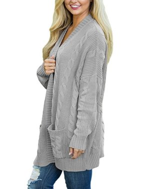 f8d7dcf1030 Product Image Plus Size Womens Long Sleeve Oversized Loose Knitted Sweater  Jumper Open Front Plain Cardigan Outwear Coat