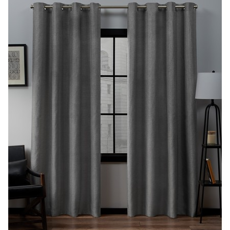 - Exclusive Home Curtains 2 Pack Loha Linen Grommet Top Curtain Panels