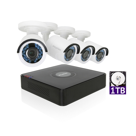LaView 1080P HD 4 Security Cameras 4CH Home Video Security Camera System w/ 1TB HDD 2MP Night View Cameras CCTV Surveillance