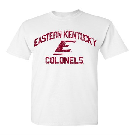 Kentucky University Embroidery (Eastern Kentucky University Colonels EKU Retro Distressed Logo Short Sleeve T-Shirt )