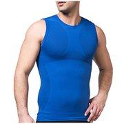 af07054a48903 Body Shaper Slim Vest Abdomen Muscle Tank Bodyshaper Slimming Undershirt  For Men -Blue Xlarge