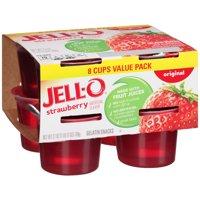 Jell-O Ready to Eat Strawberry Gelatin Snacks, 27 oz Sleeve (8 Cups)