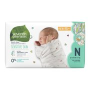 Seventh Generation Free & Clear Baby Diapers with Animal Prints Size Newborn, up to 10 lbs 36 count