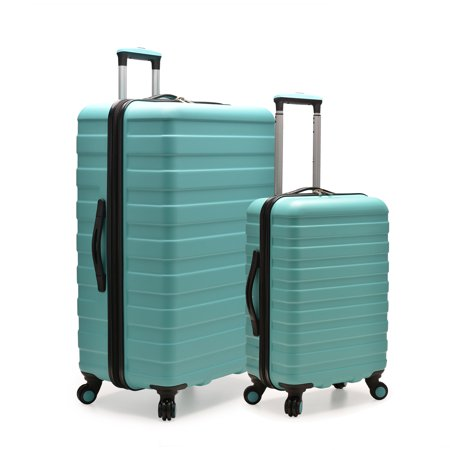 2 Piece Luggage Set (U.S. Traveler Cypress Colorful 2-Piece Small and Large Hardside Spinner Luggage Set, Mint )