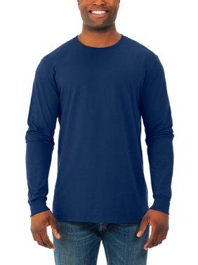 Big Men's Soft Long Sleeve Lightweight Crew T Shirt, 2 Pack