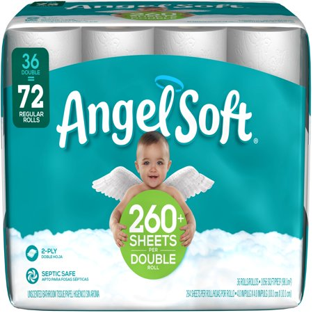 Empty Toilet Paper Rolls (Angel Soft Toilet Paper, 36 Double)