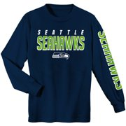 Youth College Navy Seattle Seahawks Sleeve Hit Long Sleeve T-Shirt c33bd0f34