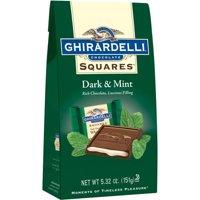 Ghirardelli Squares Dark & Mint Dark Chocolates, 5.32 Oz.