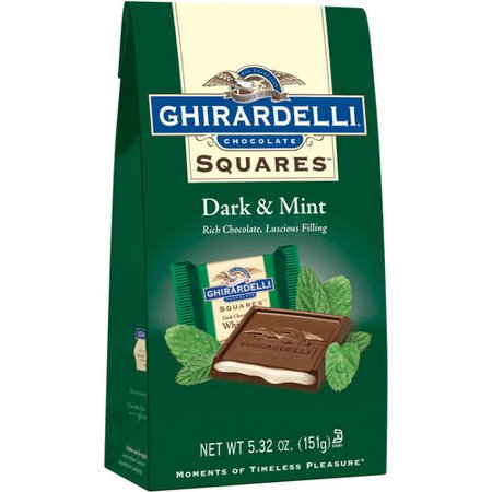 - Ghirardelli Squares Dark & Mint Dark Chocolates, 5.32 Oz.