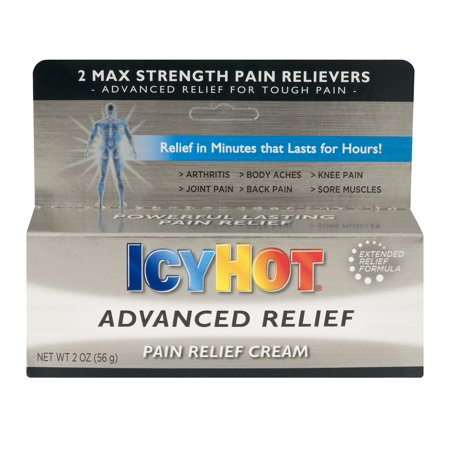 Flex Power Pain Relief Cream - Icy Hot Advanced Relief Pain Relief Cream, 2.0 OZ