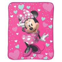 """Minnie Mouse 46"""" x 60"""" Plush Throw, Kid's Bedding"""