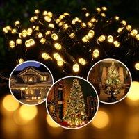 LUCKLED Solar String Lights, 72ft 200 LED Fairy Decorative LED String Lights, Waterproof Outdoor String Lights (Warm White)