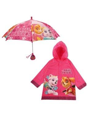 Nickelodeon Paw Patrol Slicker and Umbrella Rainwear Set, Little Girls, Age 2-7