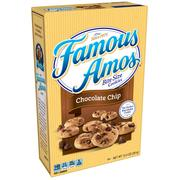 (2 Pack) Famous Amos Bite Size Chocolate Chip Cookies, 12.4 oz