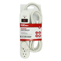 Hyper Tough 6 Outlet 6ft Surge With Glossy White