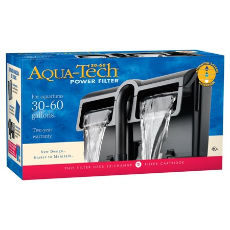 Aqua-Tech Power Aquarium Filter 3-Step Filtration, 30-60 Gallons ()