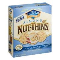 (2 Pack) Nut Thins Cracker Crisps, Hint of Sea Salt, 4.25 oz Box