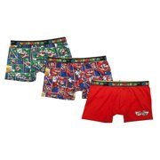 Boy's Super and Luigi Poly Boxer Briefs, 3 Pack