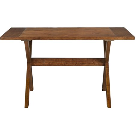 Dorel Living Trestle Wood Dining Table With X Shaped Legs