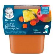 Gerber 2nd Foods Carrot Mango Pineapple Baby Food, 2-4 oz. Tubs