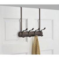 InterDesign Over the Door 4-Hook Rack for Coats, Hats, Robes and Towels