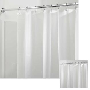 PEVA Frost Shower Curtain Liner With Magnets Mildew Free Soft Non Toxic  Plastic 72