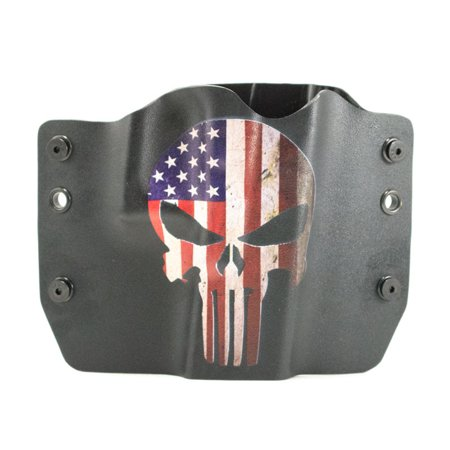 Outlaw Holsters: Punisher USA OWB Kydex Gun Holster for Springfield XDS 3.3 w/Crimson Trace Red, Right Handed.](Red Rose Springfield)