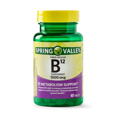 Time Release Youth Boost ((2 Pack) Spring Valley Vitamin B12 Timed Release Tablets, 1000 mcg, 60)