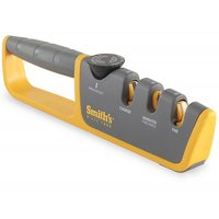 Smith's Adjustable Manual Knife Sharpener, Gray/Yellow, 50264