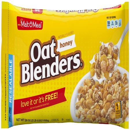 Malt-O-Meal Breakfast Cereal, Honey Oat Blenders, 36 Oz, Bag