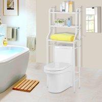 YOSOO Toilet Storage Shelf,3-Tier Iron Bathroom Shelf Space Saver Toilet Towel Storage Rack Holder Over Bathroom Shelf Organizer white