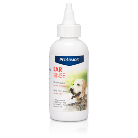 PetArmor Ear Rinse for Dogs and Cats, 4 oz. (Zymox Otic Enzymatic Solution For Pet Ears)